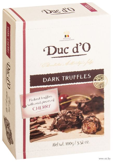 "Конфеты ""Duc d'O. Dark Truffles with Cherry"" (100 г) — фото, картинка"