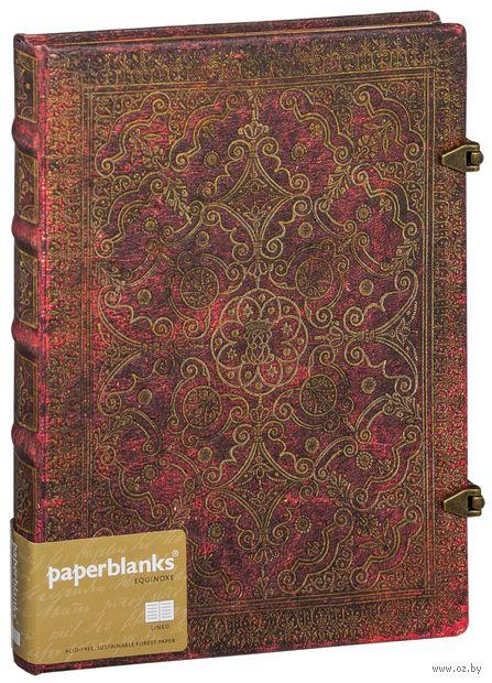 "Записная книжка Paperblanks ""Кармин"" в линейку (формат: 180*230 мм, ультра)"