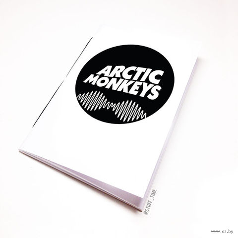 "Блокнот белый ""Arctic Monkeys"" А5 (065)"