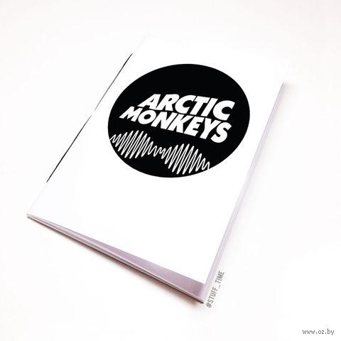 "Блокнот белый ""Arctic Monkeys"" А5 (арт. 065)"