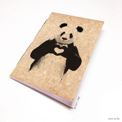 """Блокнот крафт """"Панда"""" А5 (512)"""