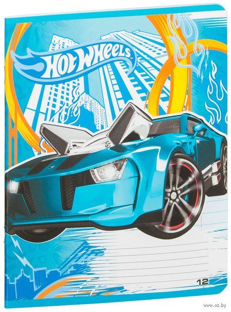 """Тетрадь в линейку """"Hot Wheels"""" (12 листов)"""