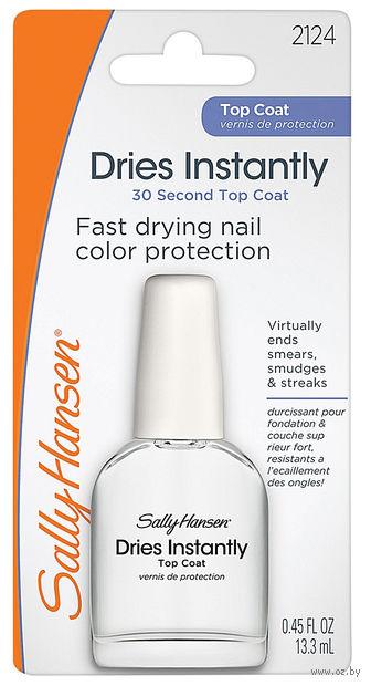 """Верхнее покрытие для ногтей """"Dries instantly quick dry top coat"""" (13 мл) — фото, картинка"""