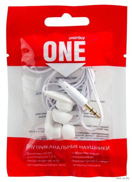 Наушники проводные пассивные Smartbuy ONE, белые (SBE-150) — фото, картинка