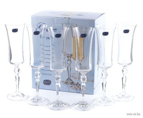 """Бокал для шампанского стеклянный """"Grace"""" (6 шт.; 190 мл) — фото, картинка"""