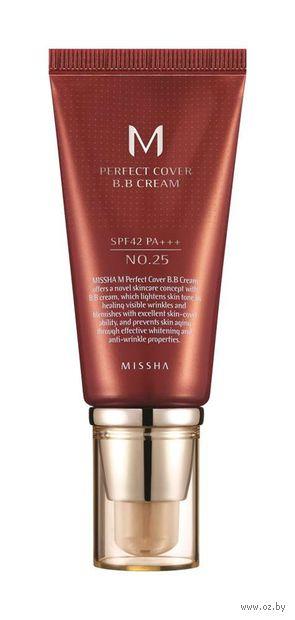 """BB крем для лица """"M Perfect Cover"""" SPF 42 тон: 25, warm beige — фото, картинка"""