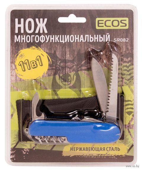 "Нож Ecos ""SR082"" (11 функций; синий) — фото, картинка"