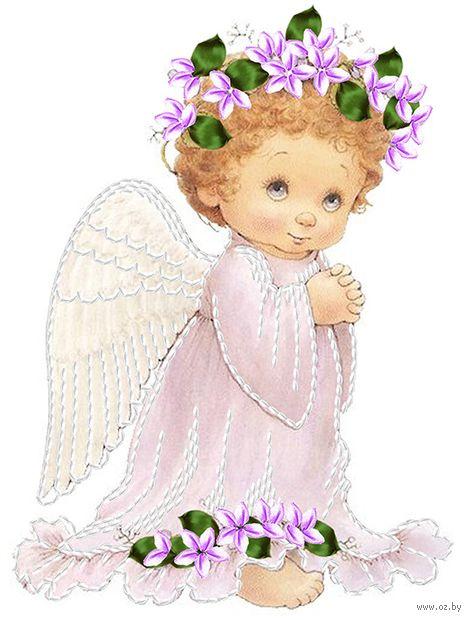 "Вышивка лентами ""Нежный ангелочек"" (250х190 мм) — фото, картинка"