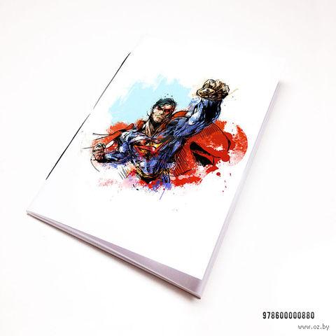 """Блокнот белый """"Супермен"""" А7 (880)"""