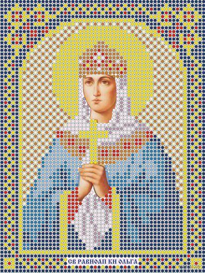 "Вышивка бисером ""Святая Княгиня Ольга"" (120х160 мм) — фото, картинка"