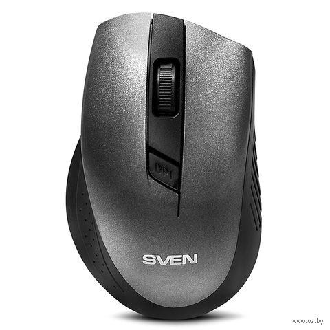Мышь беспроводная Sven RX-325 (серая) — фото, картинка