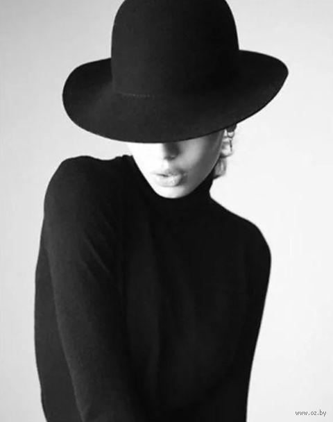 """Алмазная вышивка-мозаика """"Девушка в чёрном"""" (380х480 мм) — фото, картинка"""