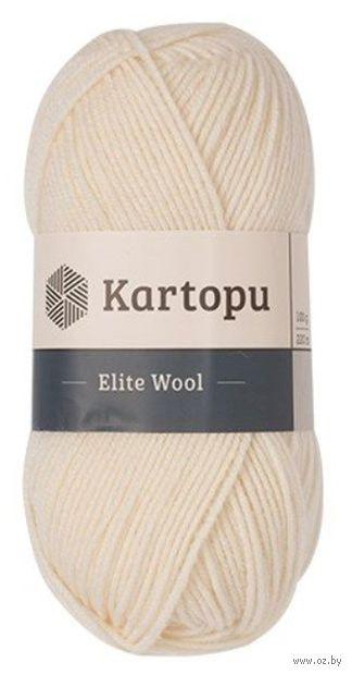 "Пряжа ""KARTOPU. Elite Wool №K025"" (100 г; 220 м; молочный) — фото, картинка"