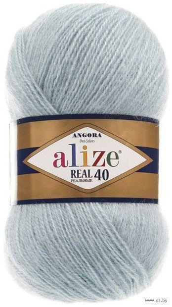 """Пряжа """"ALIZE. Angora Real 40 №114"""" (100 г; 480 м; светлая мята) — фото, картинка"""
