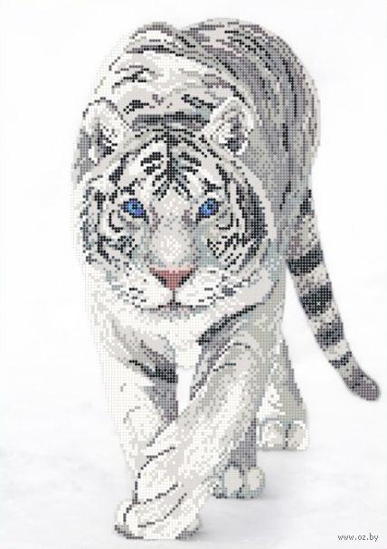 "Вышивка бисером ""Белый тигр"" (280х400 мм; арт. РС-326) — фото, картинка"