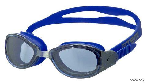 Очки для плавания (синие; зеркальные; арт. B102M) — фото, картинка