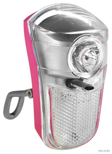 """Фонарь передний для велосипеда """"HW 160263"""" (розовый) — фото, картинка"""