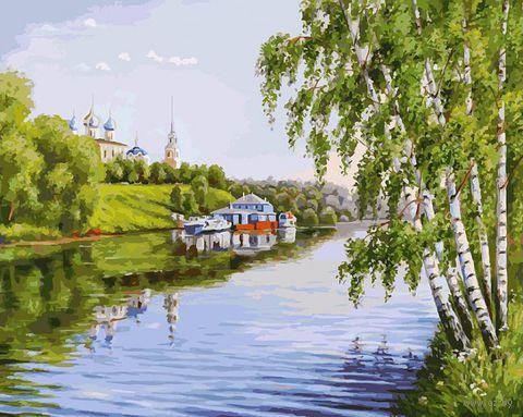 "Картина по номерам ""На высоком берегу"" (400х500 мм) — фото, картинка"