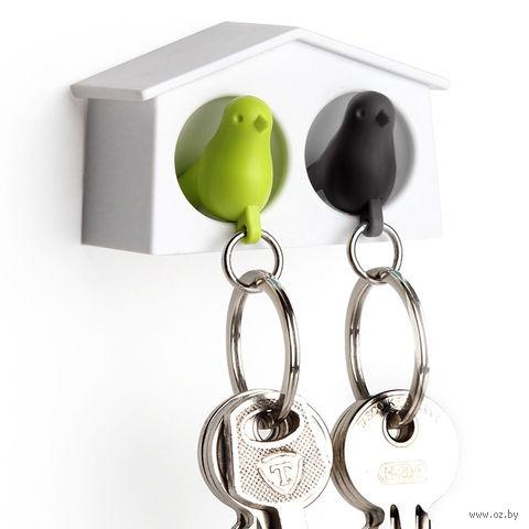 """Брелок-свисток и держатель двойной для ключей """"Mini Sparrow"""" (зеленый/черный)"""
