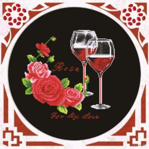 """Вышивка крестом """"Розовое вино"""""""
