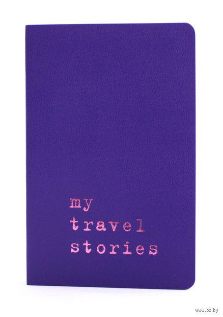 """Записная книжка Молескин """"Volant. My Travel Stories"""" в линейку (карманная; мягкая пурпурная обложка)"""