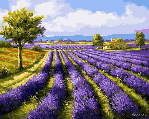 "Картина по номерам ""Лавандовое поле"" (500х650 мм) — фото, картинка"