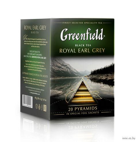 """Чай черный """"Greenfield. Royal Earl Grey"""" (20 пакетиков) — фото, картинка"""