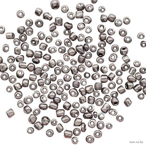 Бисер с эффектом стали №577 (серый; 6/0) — фото, картинка