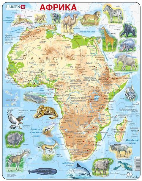 """Пазл-рамка """"Животные Африки"""" (63 элемента) — фото, картинка"""