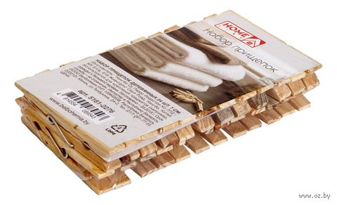 Набор прищепок деревянных (24 шт.; 70 мм) — фото, картинка