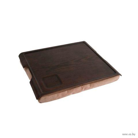 """Подставка с деревянным подносом """"Laptray"""" (венге, коричневая)"""