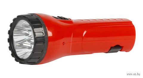 Аккумуляторный светодиодный фонарь 4 LED с прямой зарядкой Smartbuy (красный)
