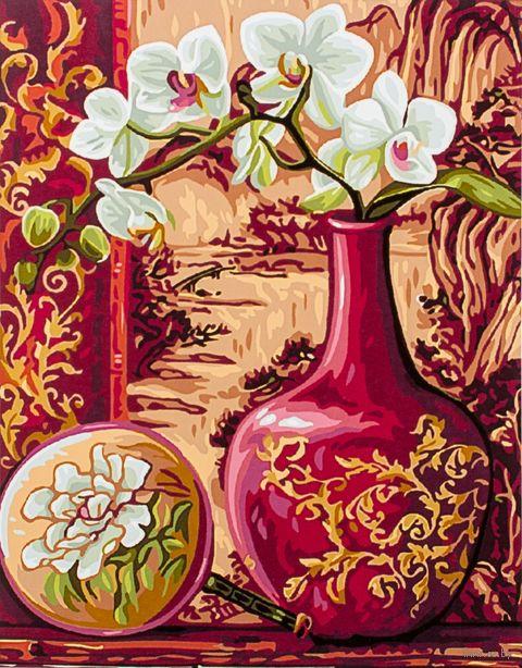 "Картина по номерам ""Орхидея в кувшине"" (300х400 мм) — фото, картинка"