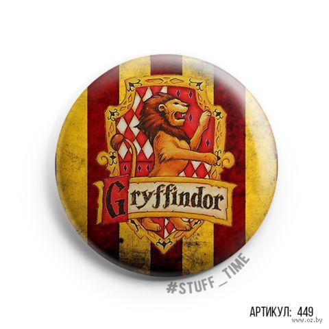 "Значок маленький ""Гарри Поттер. Гриффиндор"" (арт. 449) — фото, картинка"