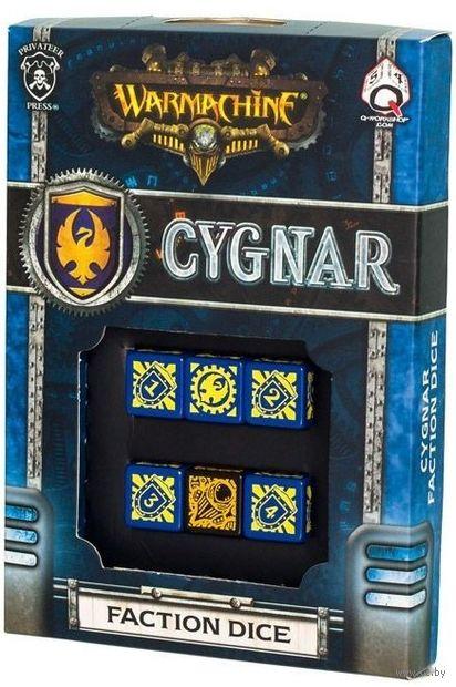 """Набор кубиков """"Warmachine Cygnar Faction"""" (6 шт.; синий) — фото, картинка"""