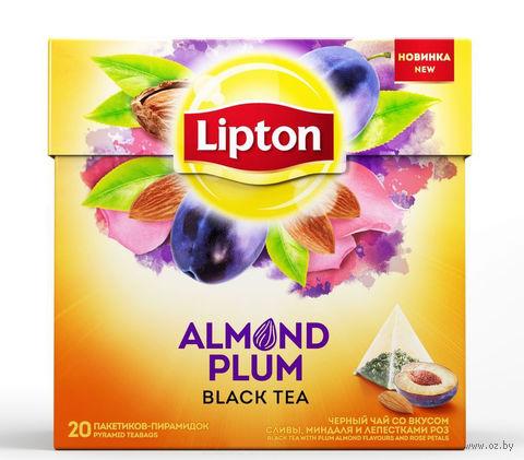 """Чай черный """"Lipton. Almond Plum"""" (20 пакетиков) — фото, картинка"""