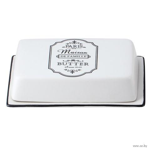 """Масленка керамическая """"Paris Maison"""" (185х125 мм) — фото, картинка"""