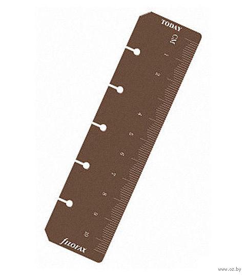 Линейка-закладка Filofax (mini, brown)
