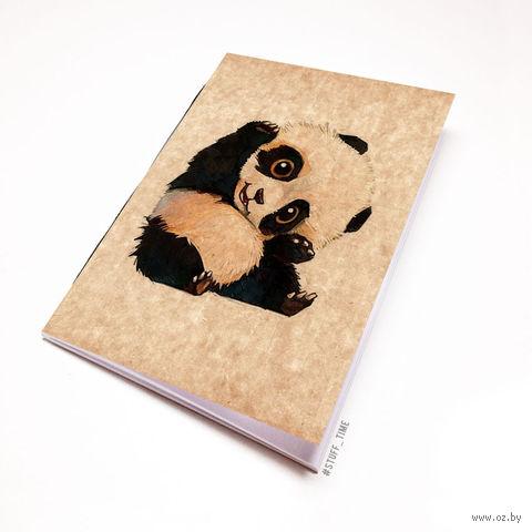 """Блокнот крафт """"Панда"""" А6 (509)"""