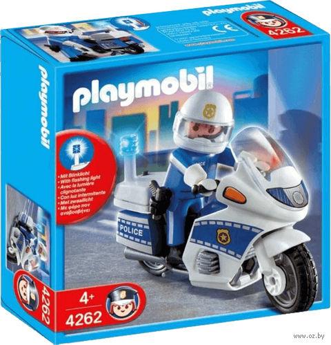 """Игровой набор """"Полицейский на мотоцикле"""" (со световыми эффектами)"""