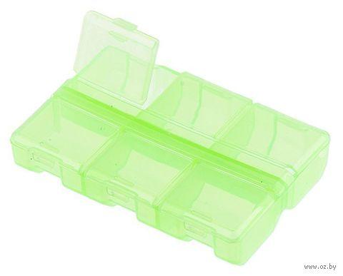 Органайзер для рукоделия (салатовый; 6 отделений) — фото, картинка