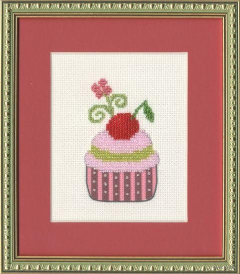 """Вышивка бисером """"Вишневый десерт"""" (102х62 мм) — фото, картинка"""