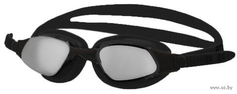 Очки для плавания (чёрные; зеркальные; арт. B302M) — фото, картинка