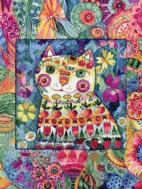 "Картина по номерам ""Кот в окошке"" (300х400 мм) — фото, картинка"