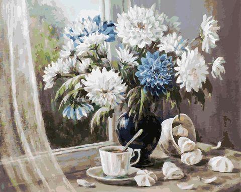 "Картина по номерам ""Хризантемы - цветы запоздалые"" (400х500 мм) — фото, картинка"