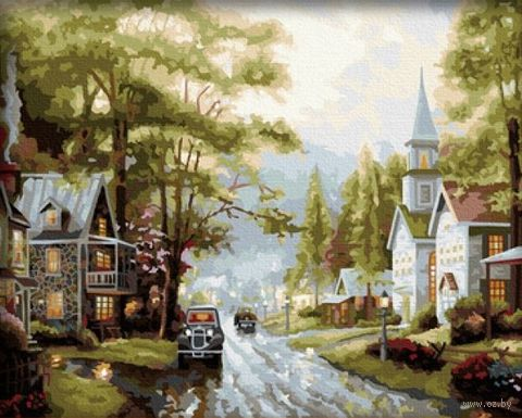 """Картина по номерам """"Старый город"""" (400x500 мм; арт. MG034)"""