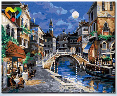 """Картина по номерам """"Ночная Венеция"""" (400x500 мм; арт. HB4050304)"""