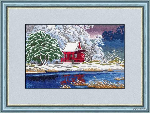 """Вышивка крестом """"Зимний сон"""" (200х306 мм) — фото, картинка"""