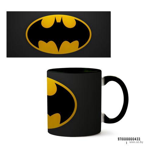 """Кружка """"Бэтмен из вселенной DC"""" (черная; арт. 433) — фото, картинка"""