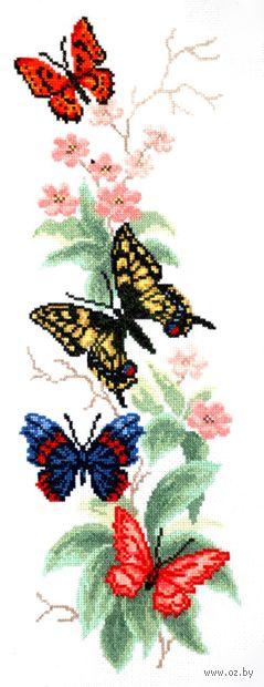 """Вышивка крестом """"Бабочки и цветы"""""""